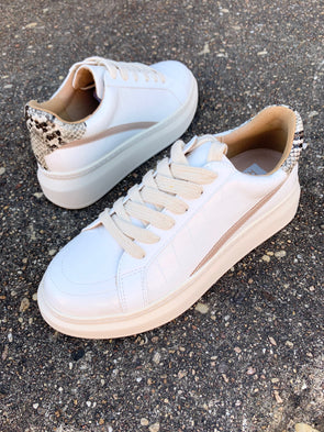 Darla Sneakers- White - Texas Bling