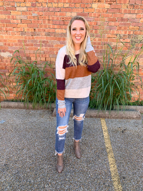 Charlotte Color Block Sweater