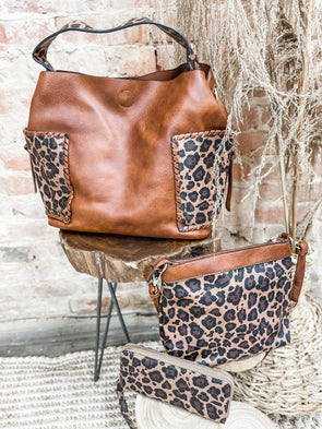 Elenna Three in One Bag Set- Brown