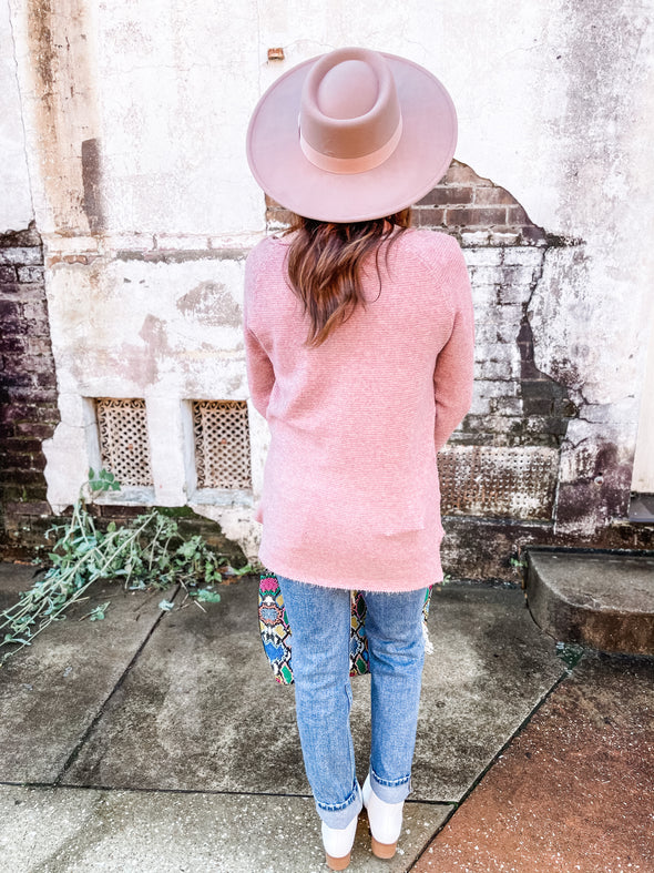 Adah Soft Oversized Sweater- Pink