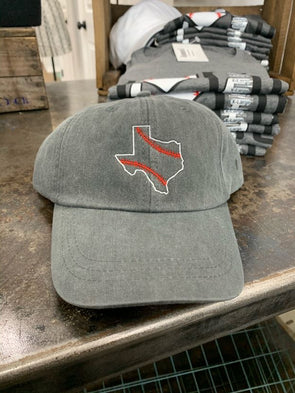 Texas Baseball Hat- Charcoal - Texas Bling