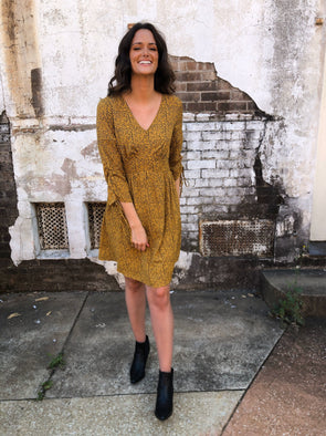 Kendra Dress- Mustard
