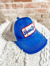 Baseball Mom Patch Hat- Royal Blue