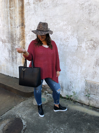 Esmeralda Sweater- Berry
