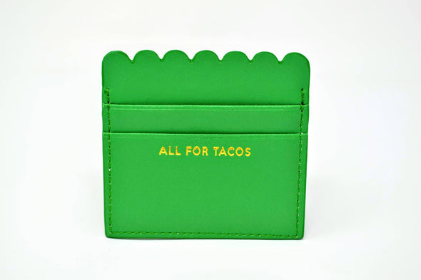 All For Tacos Scalloped Card Holder