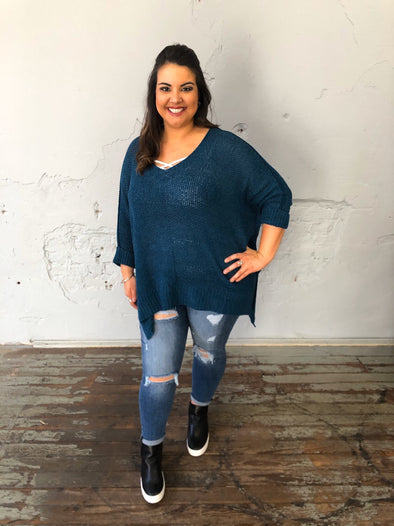 Esmeralda Sweater- Teal