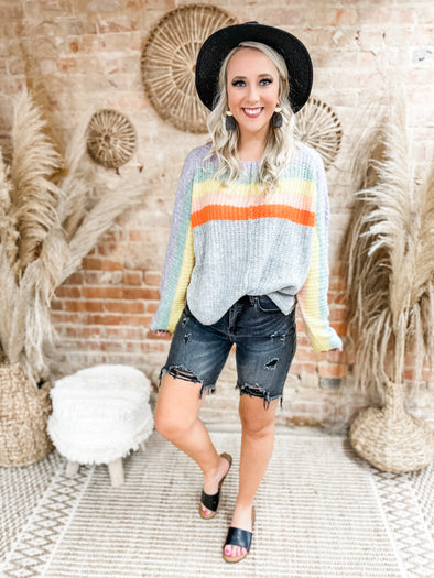 Cindy Color Block Stripe Sweater