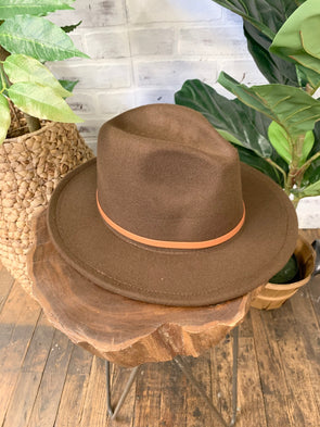 Remington Brown Belt Hat- Coffee