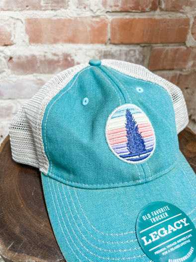 Colorful Pine Cap- Blue Green