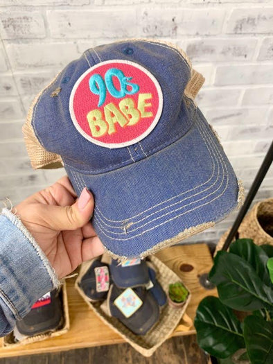 90's Babe Patch- Blue ballcap with perfect fit