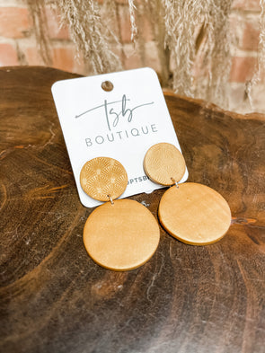 Martin Clay Earrings- Gold