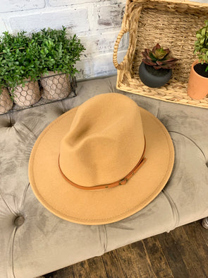 Remington Brown Belt Hat- Khaki