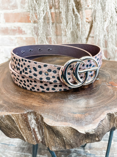 GG Belt- Fur Cheetah- Brown