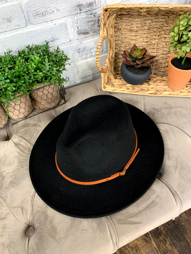 Remington Brown Belt Hat- Black