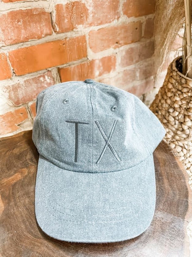 TX Cap- Charcoal- Charcoal Thread