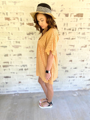 Iris Dress/Romper- Honey - Texas Bling