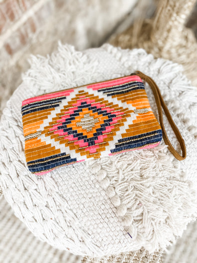 Cynthia Yarn Dye Clutch