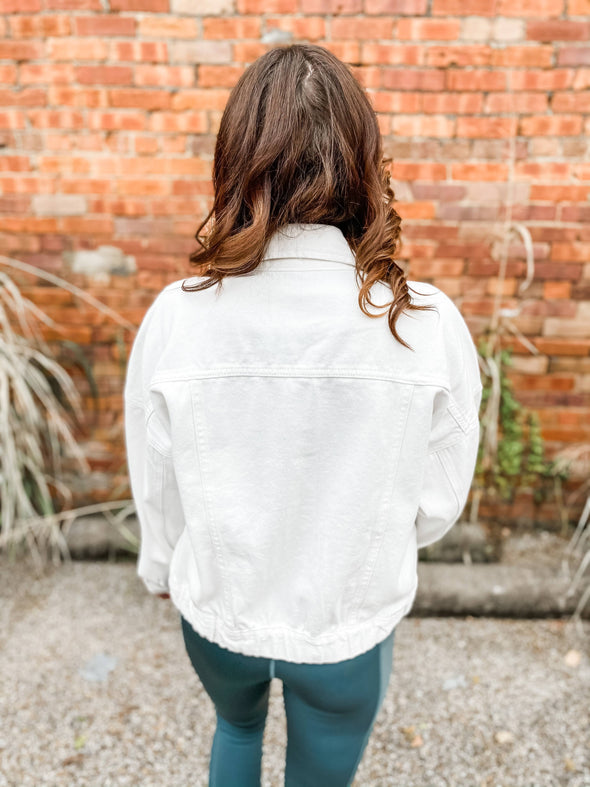 Gabe Premium Wash Denim Jacket- White