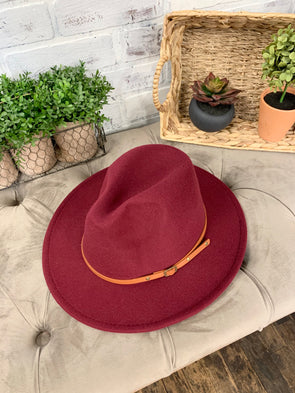 Remington Brown Belt Hat- Wine