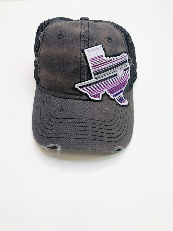 Purple Serape TX Hat