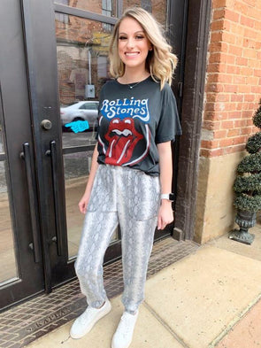 Rolling Stones Classic Tongue Boyfriend Tee - Texas Bling