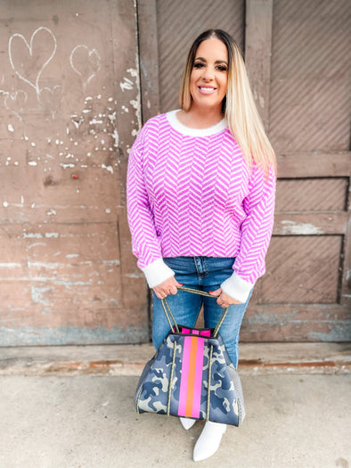 Jayla Geometric Pattern Sweater