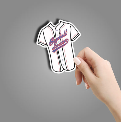 Baseball Season Jersey Sticker