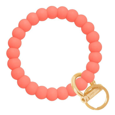 Bubble Bangle Key Ring- Coral/Gold