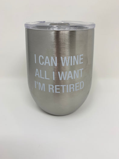 Retired Thermal Insulated Wine Glass - Texas Bling