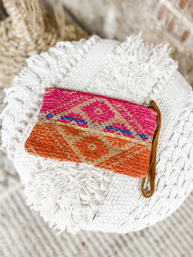 Georgia Yarn Dye Beaded Clutch