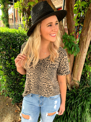 Morgan Leopard Jersey Top