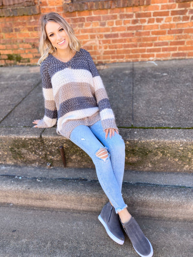 Raelynn Sweater- Heather Grey