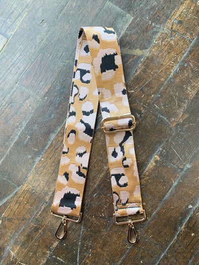 Bag Strap- Blush leopard - Texas Bling