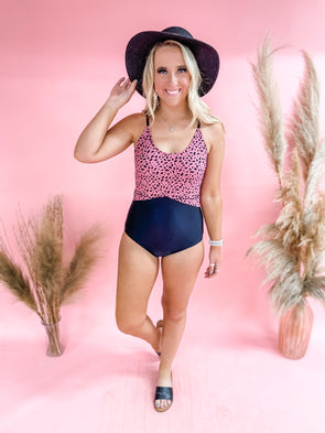 Joelle Colorblock One Piece- Pink
