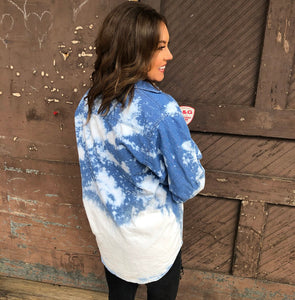 Saylor Bleached Denim Top