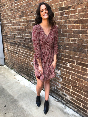 Kendra Dress- Brick