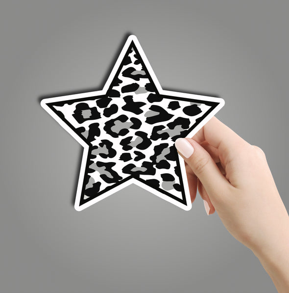 Black Leopard Star Sticker