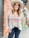 Florence Geo Embroidery Top