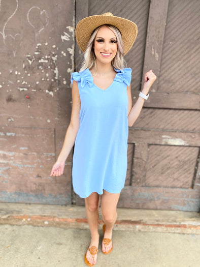 Andrea Dress- Blue