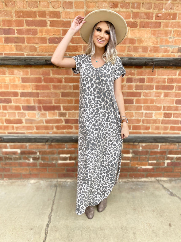 Hadley Leopard Maxi Dress