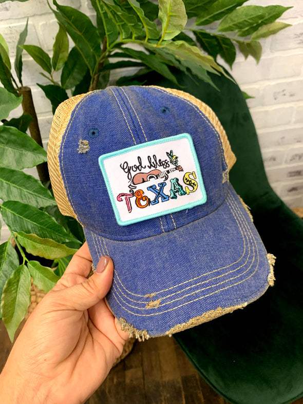 God Bless Texas Patch Hat