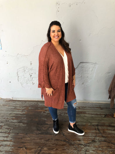 Chelsea Cardigan- Cinnamon - Texas Bling
