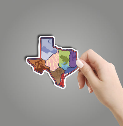 Texas Sections Sticker