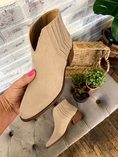 Rager 46 Bootie- Taupe