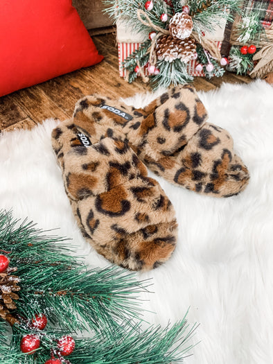 Corset Slippers - Leopard