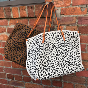 Spotted Leopard Canvas Bag