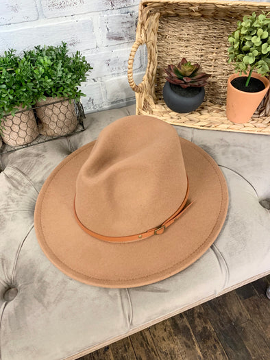Remington Brown Belt Hat- Camel