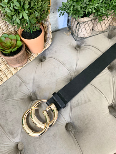 Large GiGi Belt- Black