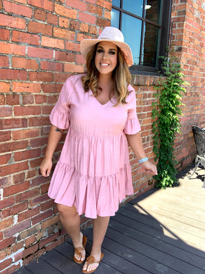 Adalynn Dress- Blush - Texas Bling
