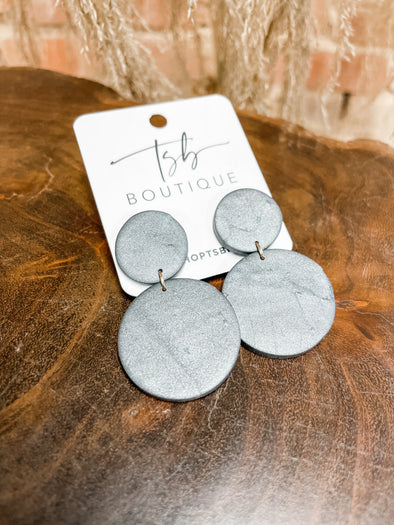 Martin Clay Earrings- Charcoal